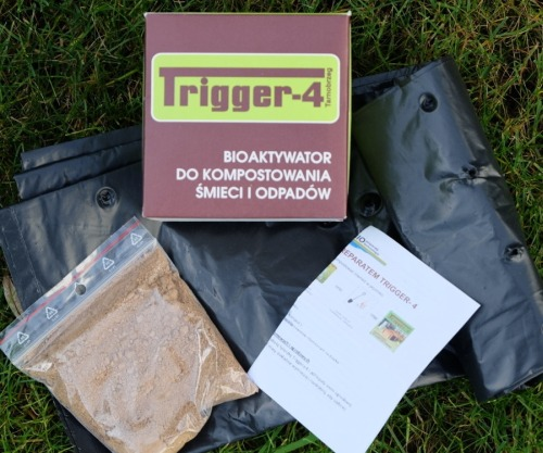 TRIGGER-4 preparat do kompostu 100g + 2 WORKI KOMPOSTOWE 80L